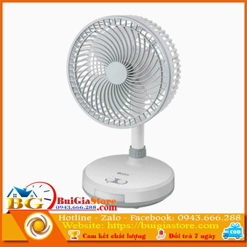 Quạt tích điện KM-F0286 - 3 chế độ gió, có đèn LED
